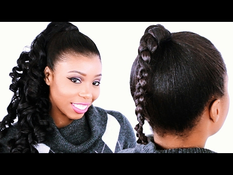 How to Invisible Ponytail Hairstyle