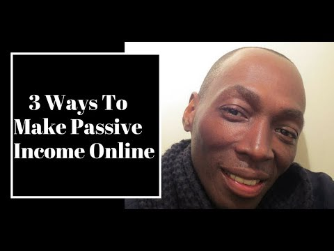 3  Ways To Make Passive Income Online  - Make Money While You Sleep
