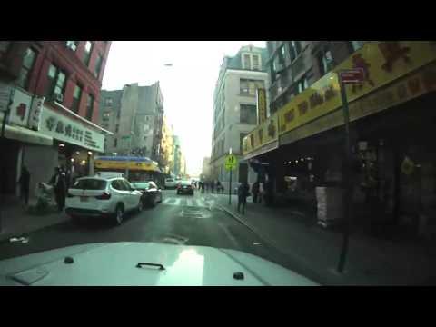 Driving around in Manhattan