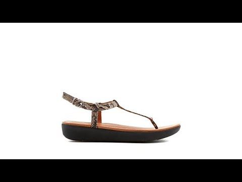 33787c23f118 FitFlop Tia Leather ToeThong Sandal Snake - YouTube
