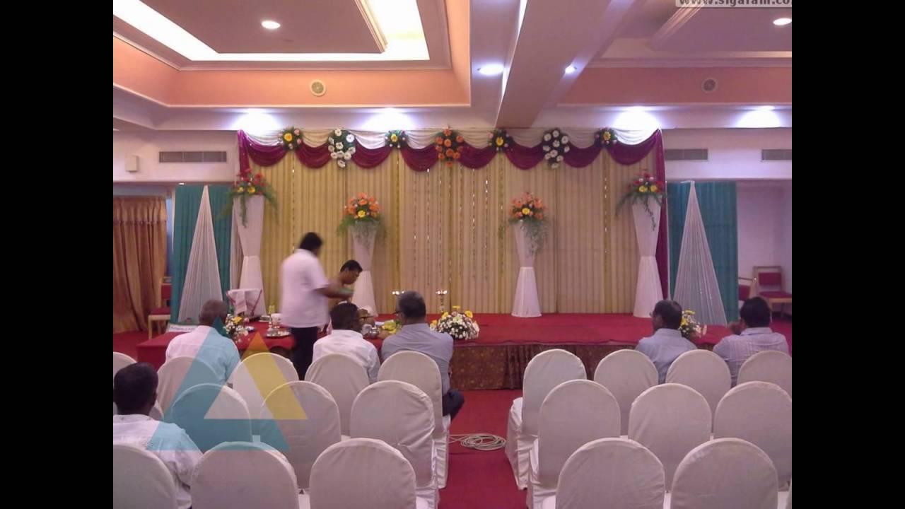 Engagement Stage Decoration At Hotel Mass Puducherry Youtube