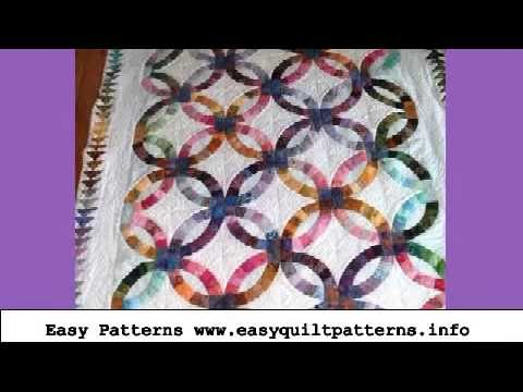 Easy Quilting Projects Double Wedding Ring Quilt Pattern Video Youtube