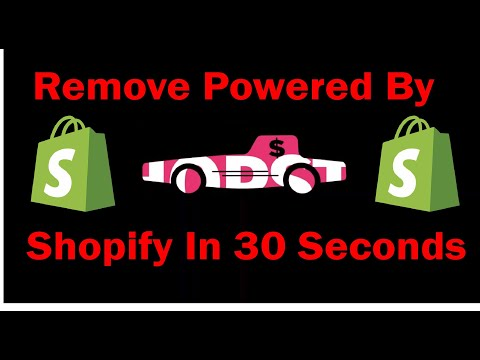 Remove Powered By Shopify in 30 Seconds | 2019 | Debut Theme |WITHOUT DELETING CODE