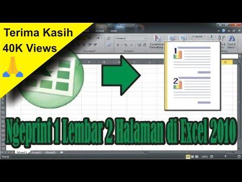 Cara Ngeprint 1 Lembar 2 Halaman di Microsoft Excel 2010