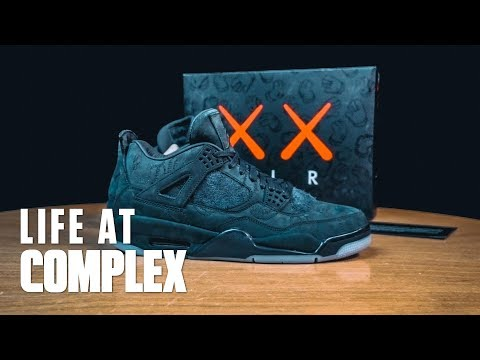 A LOOK AT THE AIR JORDAN 4 KAWS FRIENDS & FAMILY! | #LIFEATCOMPLEX