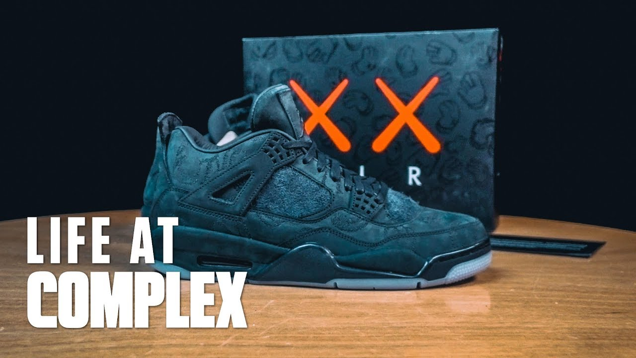 d8e4e142474 A LOOK AT THE AIR JORDAN 4 KAWS FRIENDS & FAMILY! | #LIFEATCOMPLEX ...