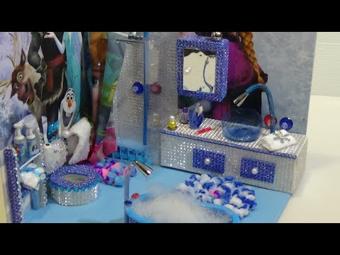 diy~Frozen Elsa bathroom~Миниатюрная ванная для Эльзы~מקלחת לאלזה #3