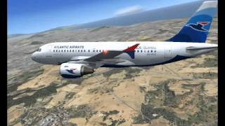 Fsx Airbus a319-115 Atlantic Airways fly Barcelona to Faroe Islands