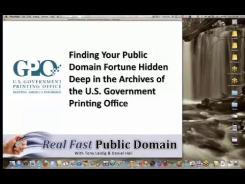Finding Your Public Domain Fortune in the Archives of the U.S. Government Printing Office