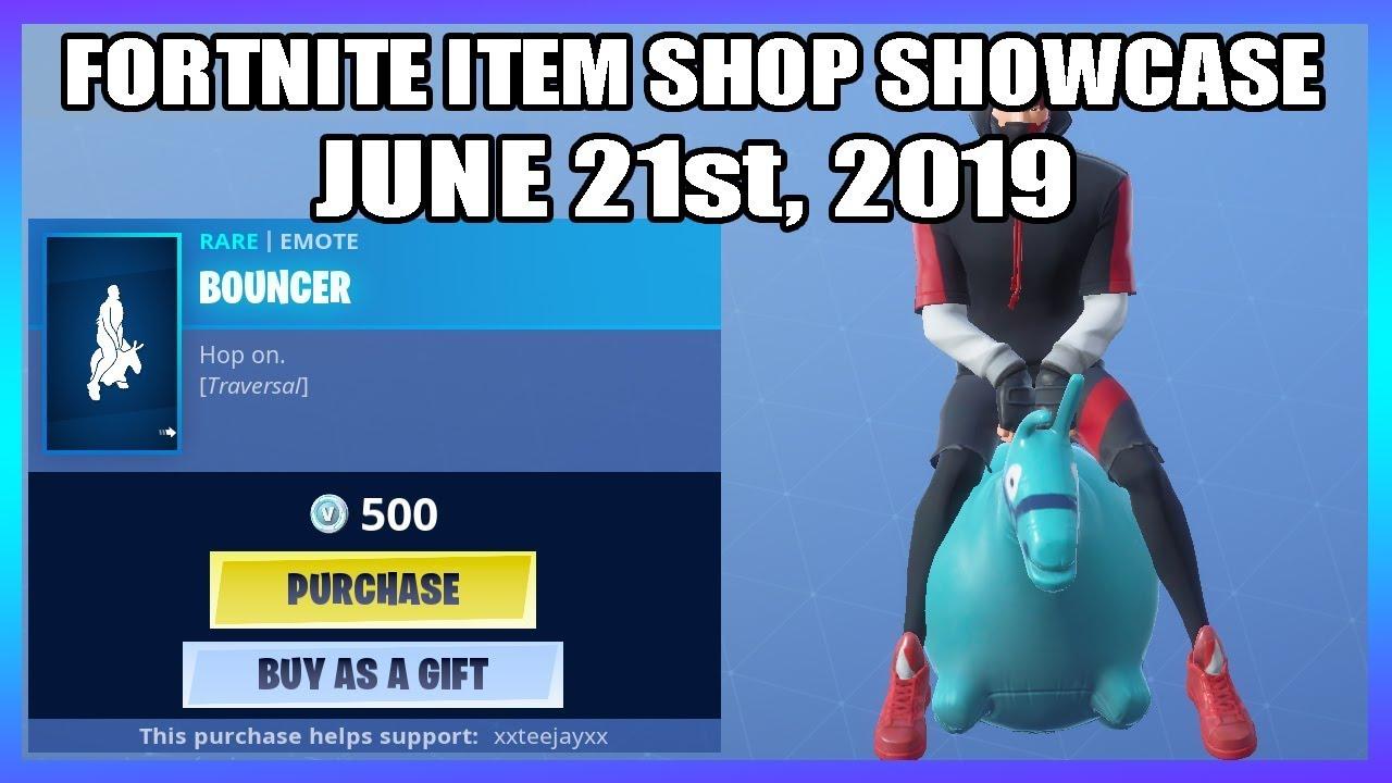 New Bouncer Emote Fortnite Item Shop 21st June Youtube