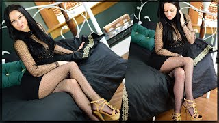 My New Sparkle Fishnet Pantyhose Review - Cassie Clarke