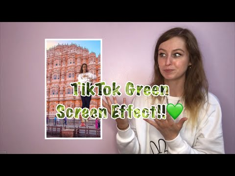 Green Screen Tutorial Using ONLY The App TikTok!!