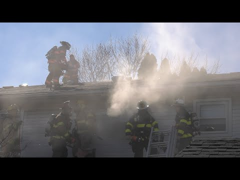 CLOSE CALL: Firefighter falls in vent hole during 3-alarm fire (Roof Ops)