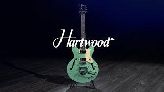 Hartwood Revival TM Semi Acoustic Guitar, Jade Green   Gear4music