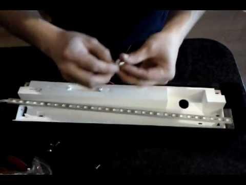 DIY LED fish tank lights Fluorescent bulb to LED - YouTube