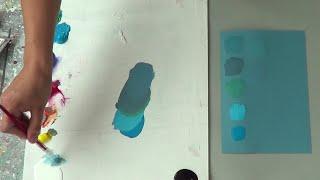 Cómo mezclar e igualar colores y tonos. Curso de pintura. Círculo cromático.