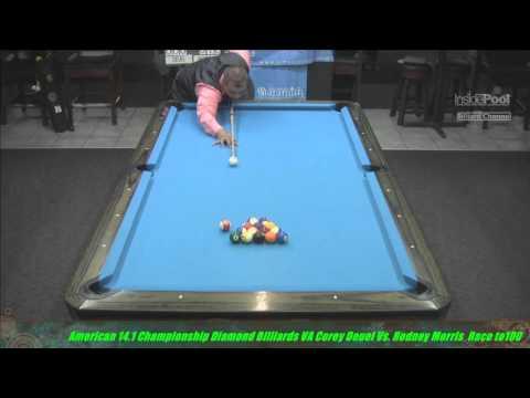 2015 American 14 1 Championship Corey Deuel VS Rodney Morris