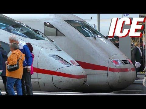 Deutsche Bahn ICE Züge - ICE trains in Frankfurt am Main Hbf, Hauptbahnhof - main station
