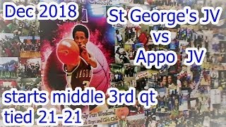 St George's JV vs Appo JV  begins 2 min to go 3rd qt