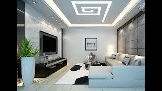 High Ceiling Ideas For Living Room | False Double Vaulted DIY LED Decorating Design On a Budget 2019