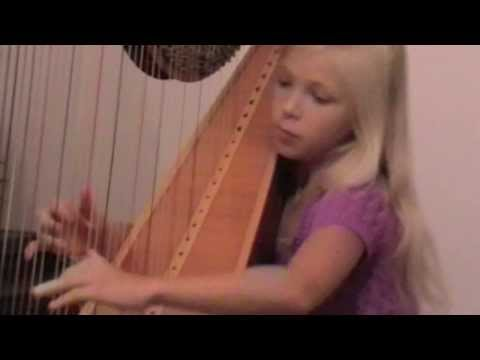 David Watkins - Fire Dance. Alisa Sadikova - 10 years old harpist.