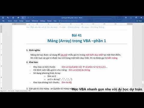 Bài 41 – Mảng trong VBA   khai báo mảng