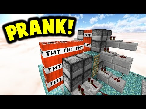 NOOB SWAPPED WITH PRO PRANK!!   Minecraft TNT WARS!