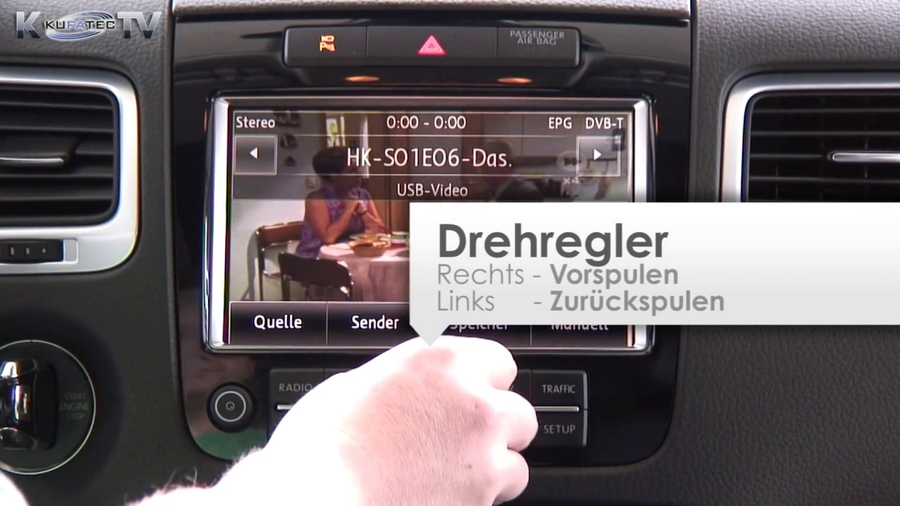 fiscube174 f252r vw touareg rns 850 kufatec deutsch youtube