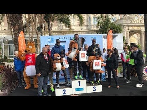 Ethiopian runners Dejene Kelkilew and Tejitu Siyum win Marathon des Alpes Maritimes in Nice, France