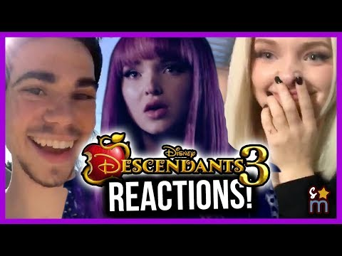Descendants Cast REACTS to DESCENDANTS 3 Trailer & Announcement - Dove Cameron, Sofia Carson