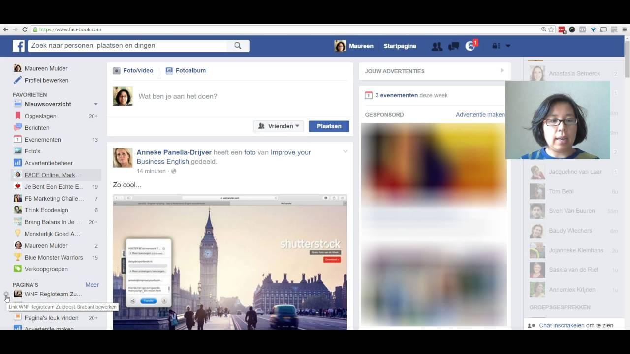 Startpagina facebook