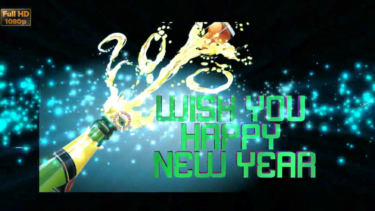 Happy New Year Greetings Whatsapp Video Animation Wallpaper Free