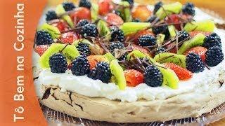 PAVLOVA DE CHOCOLATE com frutas - Receita de Pavlova (Episódio #32)