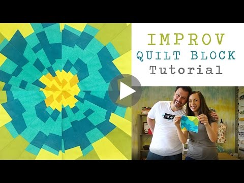 Improv quilt block tutorial - Mister Domestic teaches how to make a fun quilt block