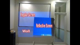 LED Projector Anda jadi lebih terang dengan...Reflective Screen Projector