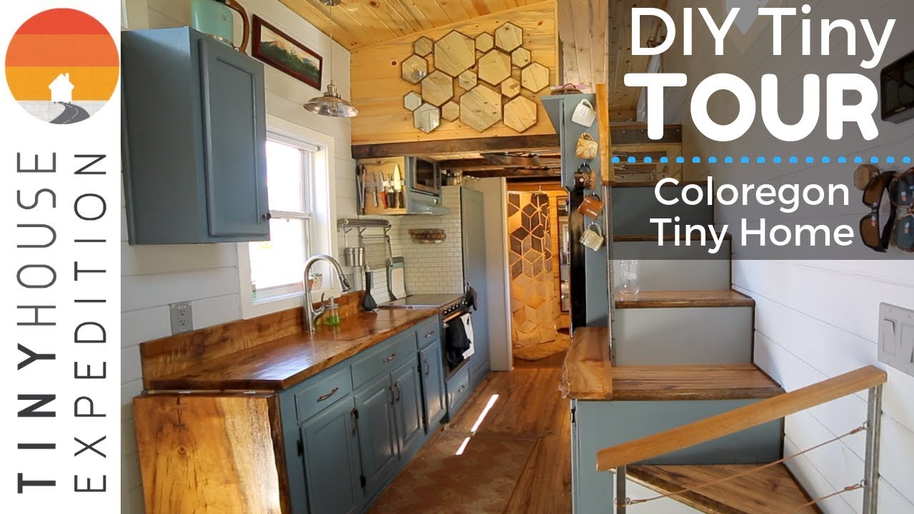Young Family's Exquisite Handcrafted Tiny House with Creative Design on tiny house kitchens and bathrooms, tiny home modern kitchen, genius kitchen storage ideas, california kitchen ideas, manhattan kitchen ideas, tiny design ideas, small cabin kitchen ideas, tiny home outdoor living, tiny home gardening, tiny houses on wheels, tiny art ideas,