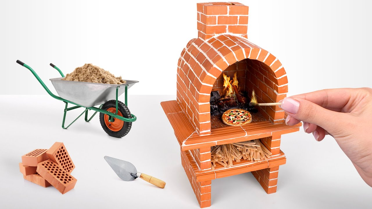 ????HOW TO BUILD A Miniature PIZZA OVEN from Mini Bricks ????