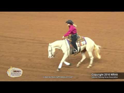 SJR Karinas Lil Step Ridden By Abby Lengel  - 2016 NRHA Futurity (Open, Second Go)