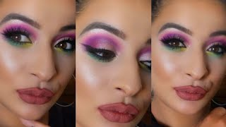 Life's A Drag Eyeshadow Palette | Lunar Beauty / Manny MUA | Bright Colors Make-up Tutorial.