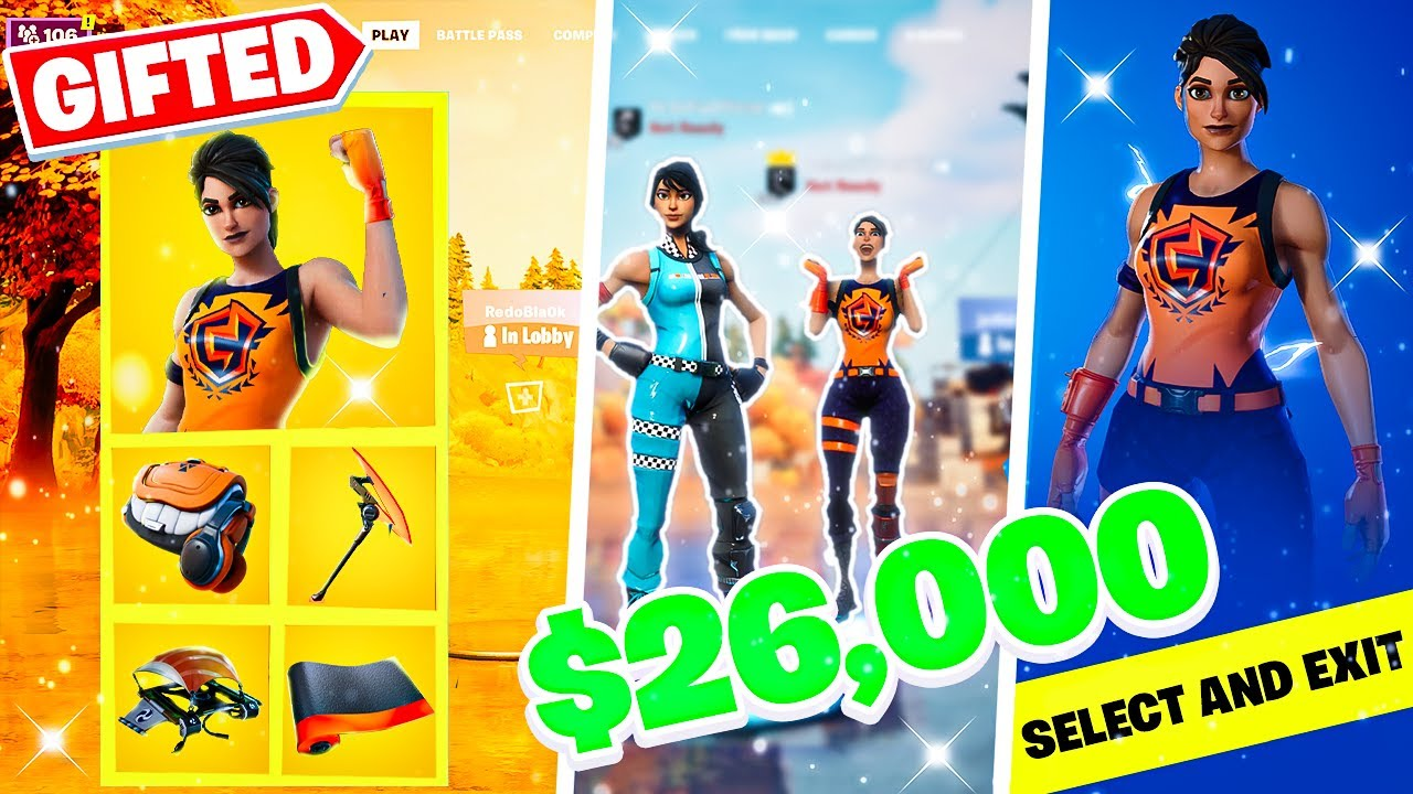 Rainbow Racer Fortnite Skin Gifting Subscribers With 26000 Vbucks In Fortnite Viral Trends
