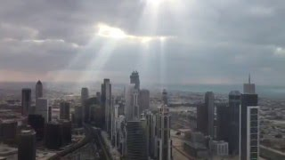 Beautiful Sun rays in-between the clouds/Angels Blessing from Burj Khalifa