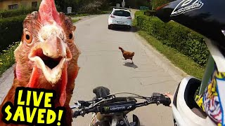 Angry Man Attack Dirt Biker with Tractor! Stupid People 2017
