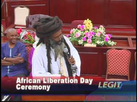 Washasha X Live at African Liberation Day Ceremony Legislature of the U S  Virgin Islands 30 May 201