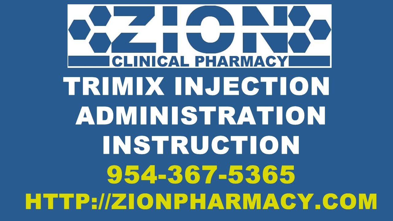 Tri Mix Injection : Trimix injection for erectile dysfunction instructions