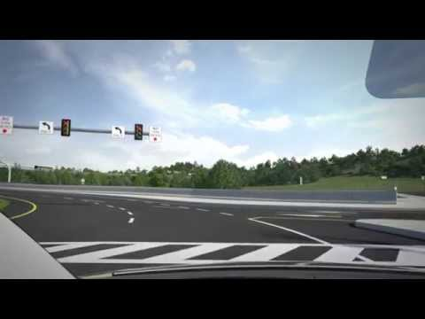 Diverging Diamond Interchange Simulation -- I70 in Washington, Westmoreland counties