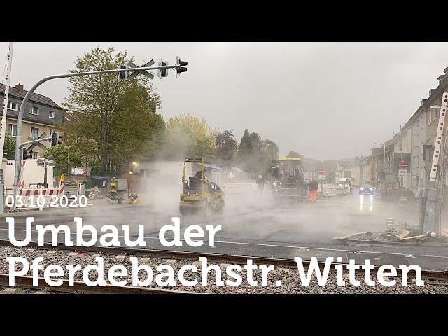 Witten - Umbau des Bahnübergangs Pferdebachstraße