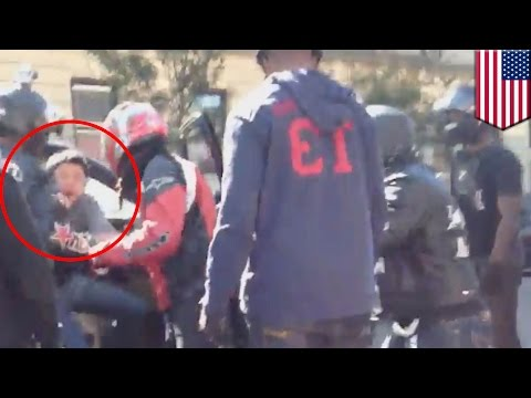 Biker gang fight: Road rage attack of SUV driver Alexian Lien captured in new video - TomoNews
