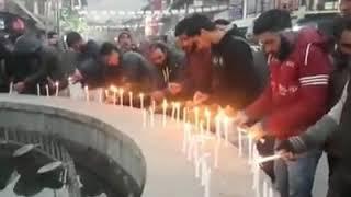 Video | Youth Hold Candlelight Vigil At Lal Chowk Anantnag and  prayer for 7-year-old girl, Zainab,