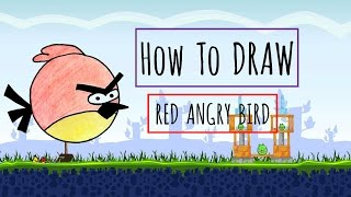 How To Draw Cartoon-Red/Terence Angry Bird