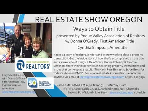 Real Estate Medford - Obtaining Title on Property